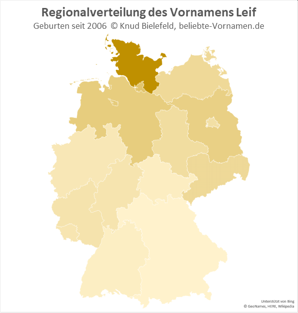 In Schleswig-Holstein ist der Name Leif besonders populär.
