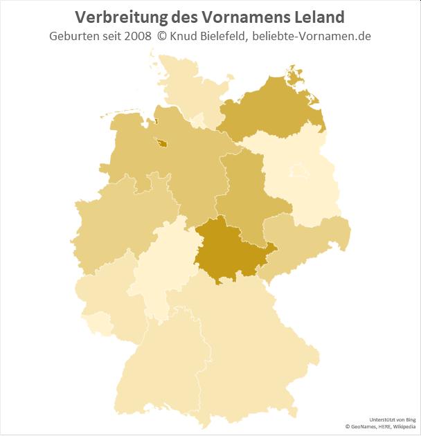 Besonders beliebt ist der Name Leland in Thüringen.