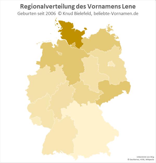 In Schleswig-Holstein ist der Name Lene besonders beliebt.