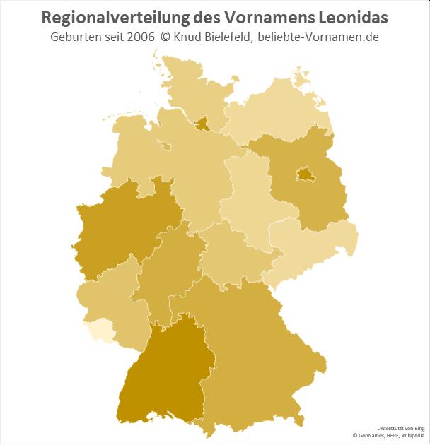 Am beliebtesten ist der Name Leonidas in Baden-Württemberg.