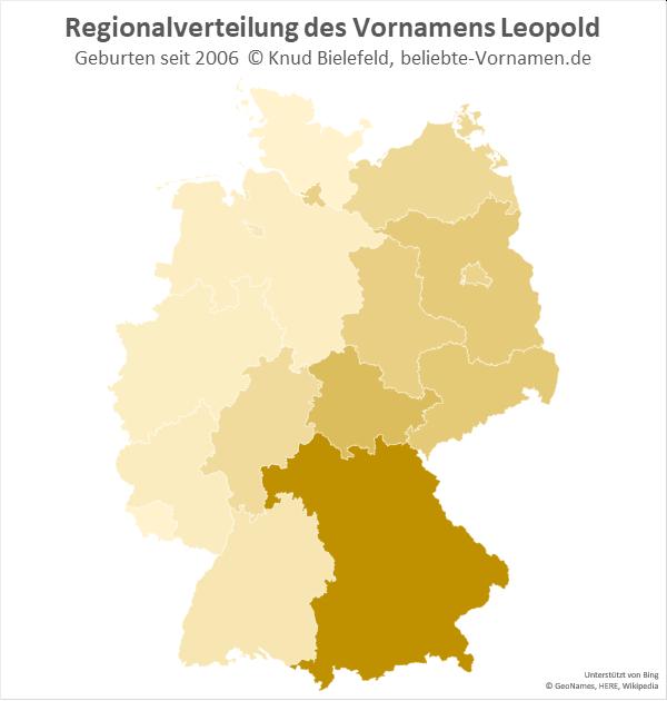 Der Name Leopold kommt vor allem in Bayern vor.