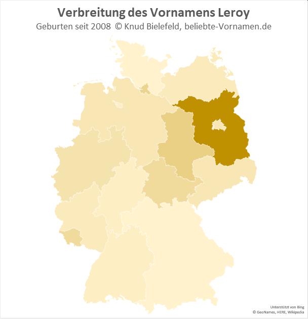 In Brandenburg ist der Name Leroy besonders beliebt.