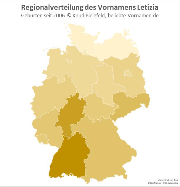 In Baden-Württemberg ist der Name Letizia besonders beliebt.