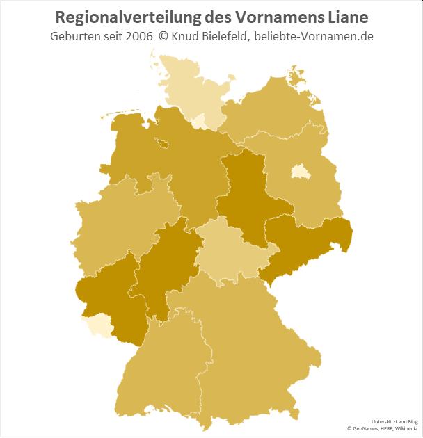 Der Name Liane kommt in ganz Deutschland vor.