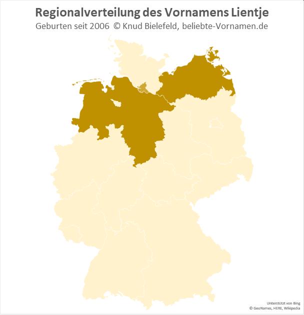 Der Name Lientje kommt vor allem in Niedersachsen und Mecklenburg-Vorpommern vor.