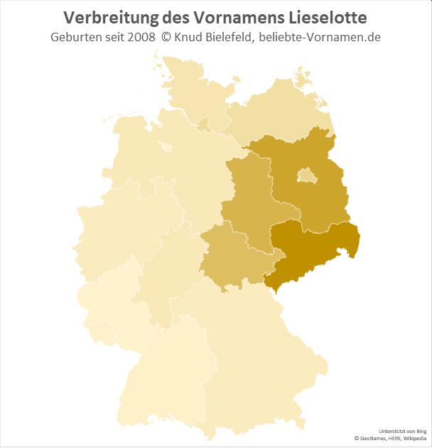 In Sachsen ist der Name Lieselotte besonders beliebt.