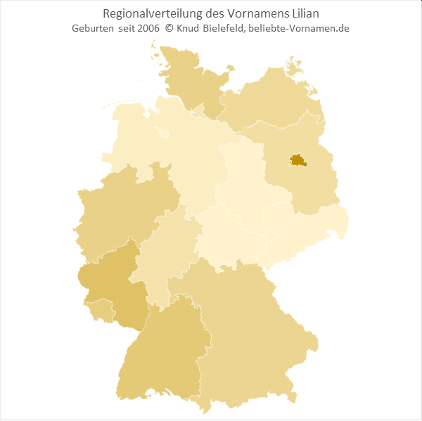 In Berlin ist der Name Lilian besonders beliebt.