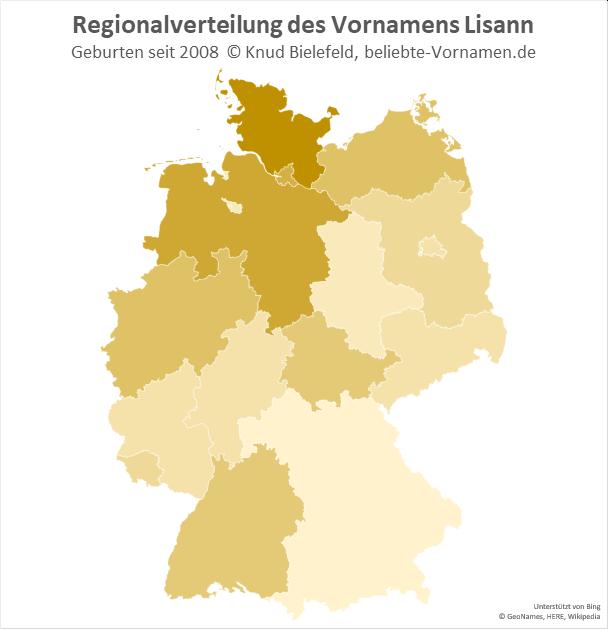 Am beliebtesten ist der Name Lisann in Schleswig-Holstein.