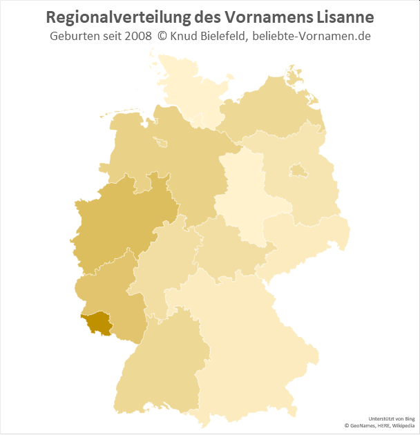 Der Name Lisanne ist im Saarland besonders beliebt.