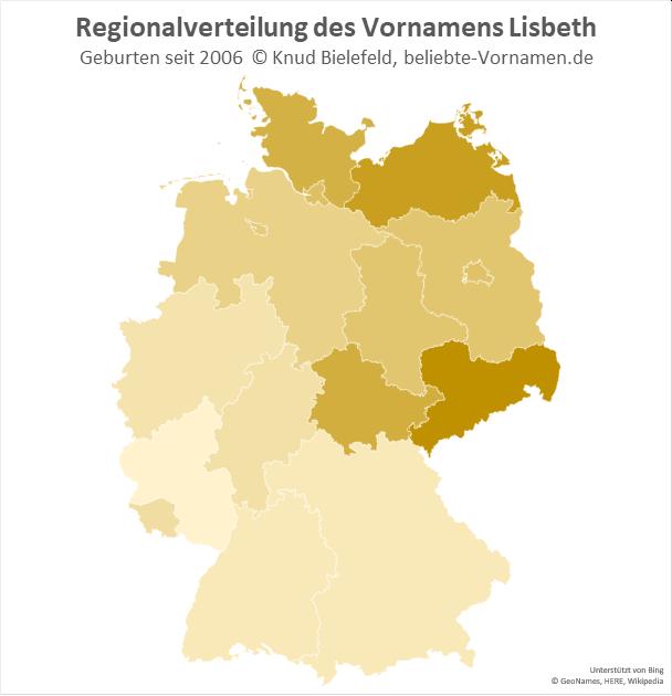 In Sachsen ist der Name Lisbeth besonders beliebt.