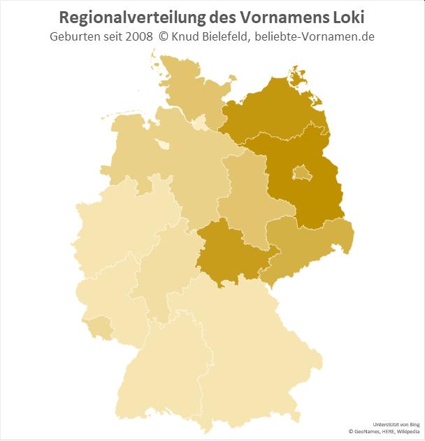 Am beliebtesten ist der Name Loki in Brandenburg.