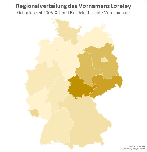 In Thüringen ist der Name Loreley besonders beliebt.