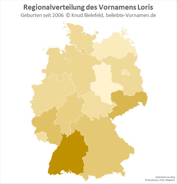 In Baden-Württemberg ist der Name Loris besonders beliebt.