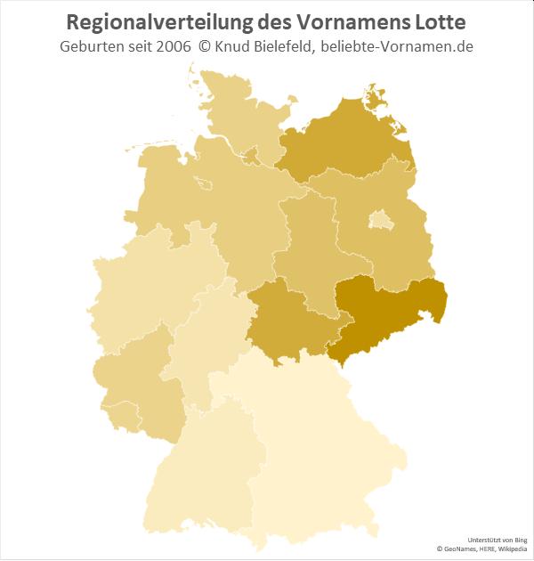 Der Name Lotte ist in Sachsen besonders beliebt.