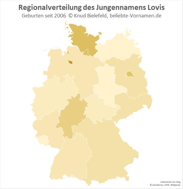 Als Jungenname ist Lovis in Bremen am beliebtesten.