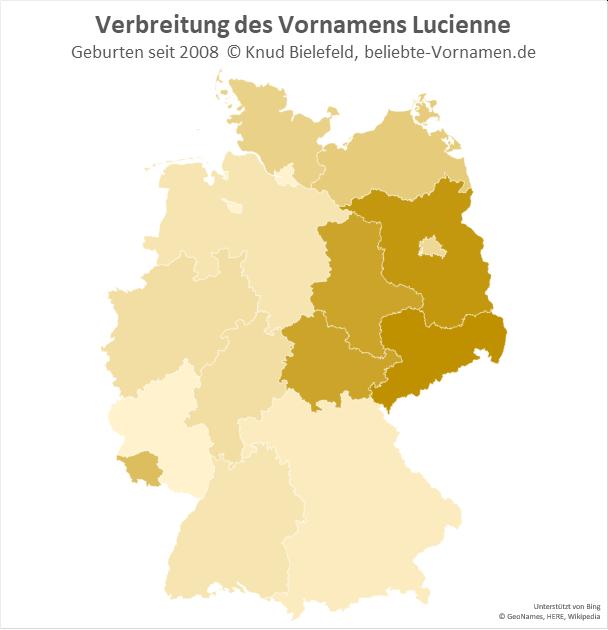 In Sachsen ist der Name Lucienne besonders beliebt.