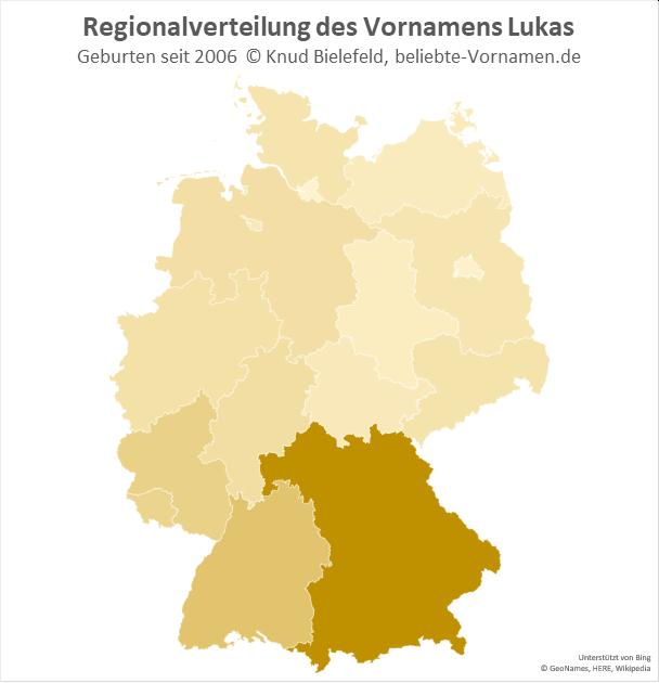 Der Name Lukas kommt besonders oft in Bayern vor.