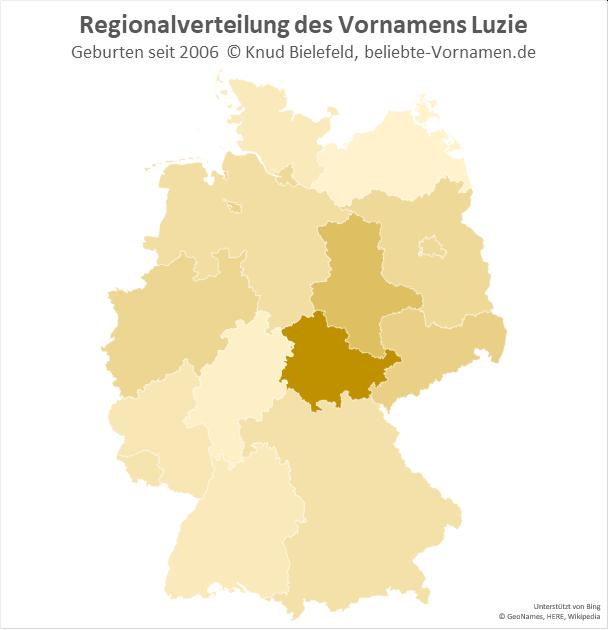 In Thüringen ist der Name Luzie besonders beliebt.