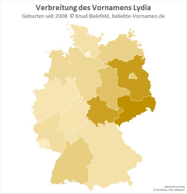 Besonders beliebt ist der Name Lydia in Sachsen.