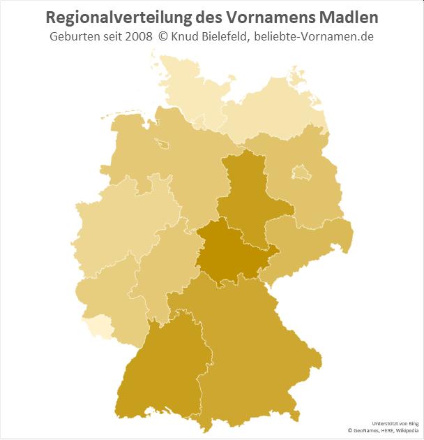 In Thüringen ist der Name Madlen besonders beliebt.