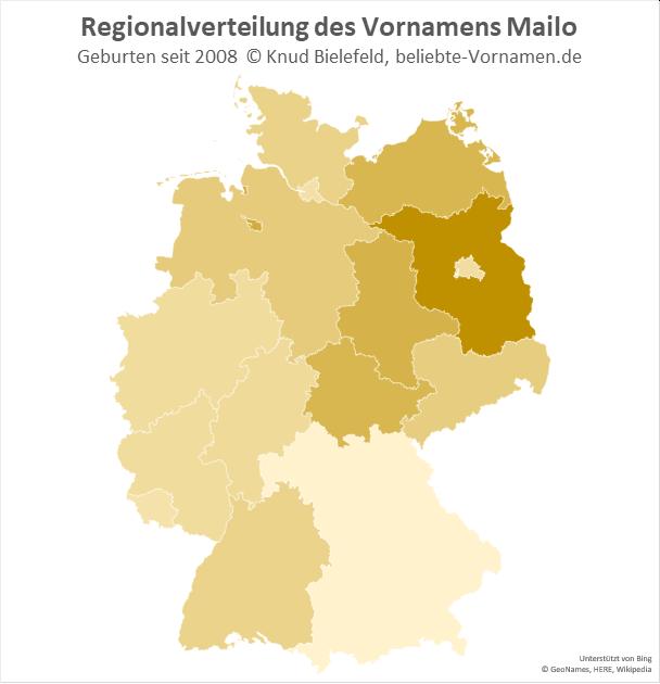 In Brandenburg ist der Name Mailo besonders beliebt.