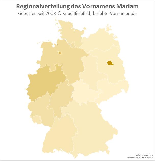 In Berlin ist der Name Mariam besonders beliebt.