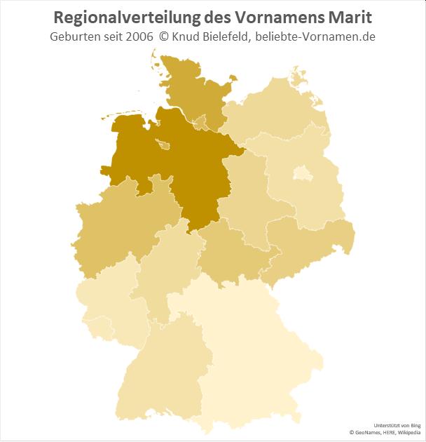 In Niedersachsen ist der Name Marit besonders beliebt.