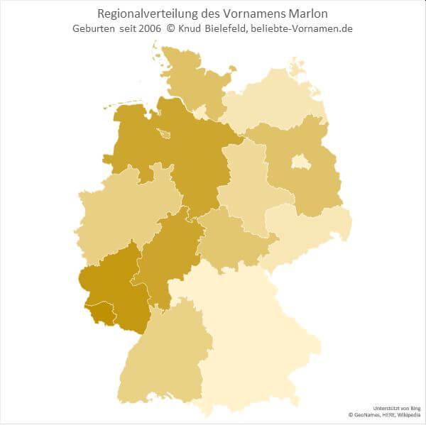 Besonders viele Marlons gibt es im Saarland und in Rheinland-Pfalz.