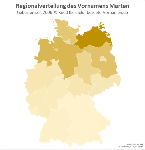 In Mecklenburg-Vorpommern ist der Name Marten besonders beliebt.