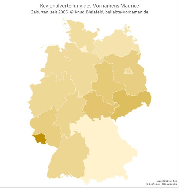 Im Saarland ist der Name Maurice am beliebtesten.