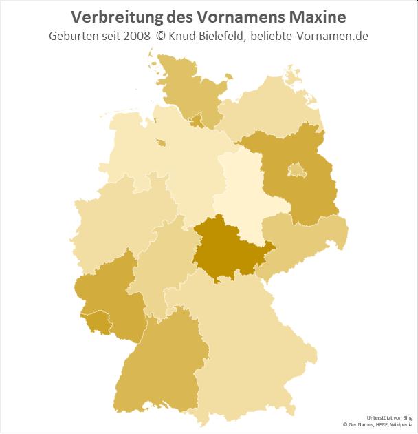 In Thüringen ist der Name Maxine besonders beliebt.