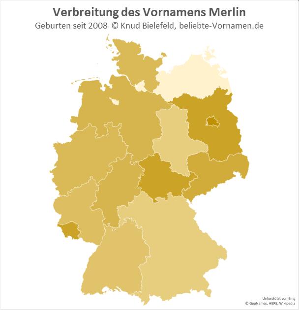Am beliebtesten ist der Name Merlin in Berlin.