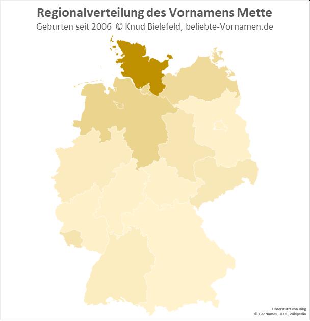 In Schleswig-Holstein ist der Name Mette besonders beliebt.