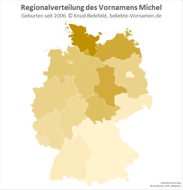 Am populärsten ist der Name Michel in Schleswig-Holstein.