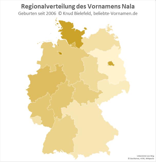 In Bremen, Berlin und Schleswig-Holstein ist der Mädchenname Nala besonders beliebt.