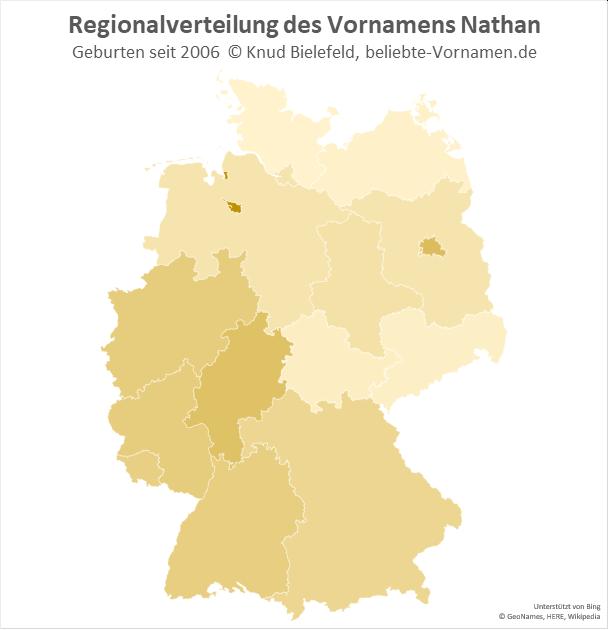In Bremen ist der Name Nathan besonders beliebt.