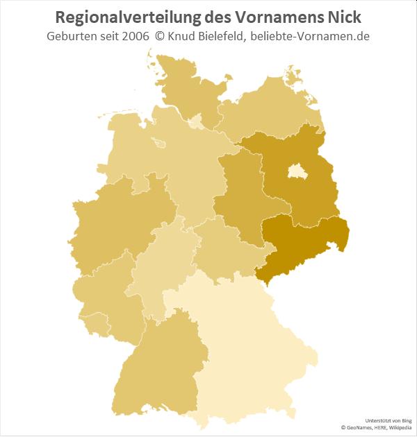 In Sachsen ist der Name Nick besonders beliebt.