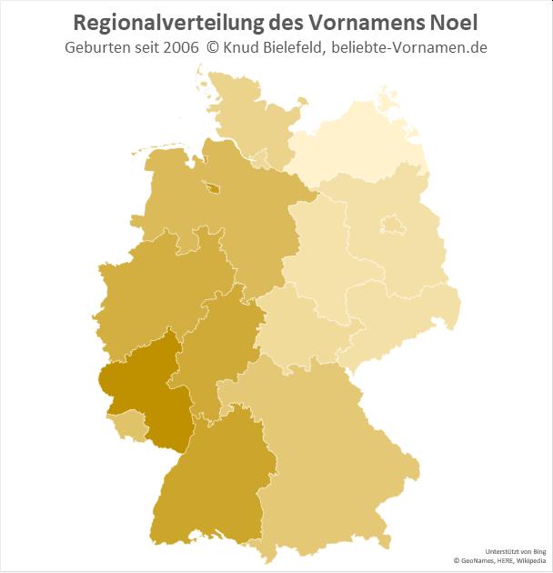 In Rheinland-Pfalz ist der Name Noel besonders beliebt.
