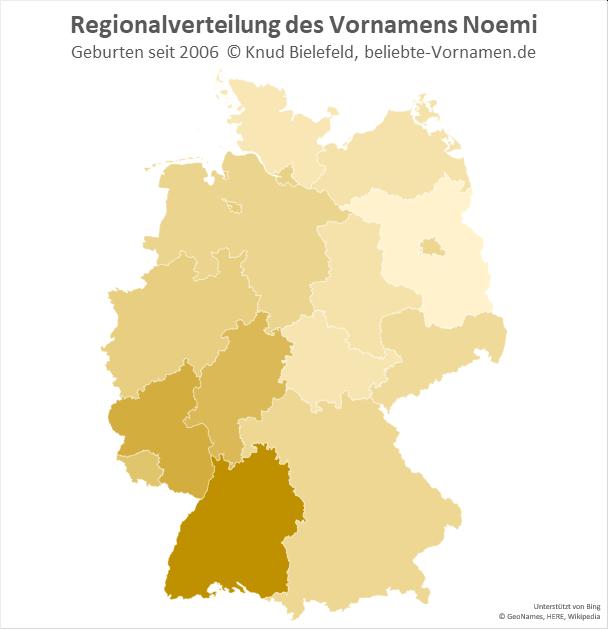 In Baden-Württemberg ist der Name Noemi besonders beliebt.