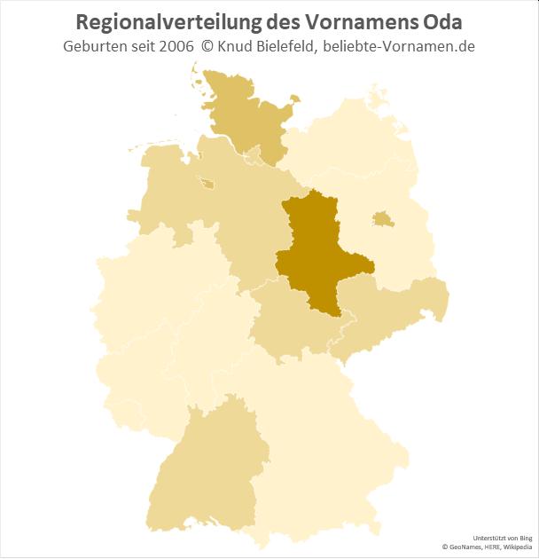 In Sachsen-Anhalt ist der Name Oda besonders beliebt.