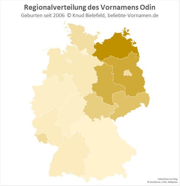 In Mecklenburg-Vorpommern ist der Name Odin besonders beliebt.