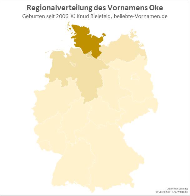 Besonders in Schleswig-Holstein ist der Name Oke beliebt.