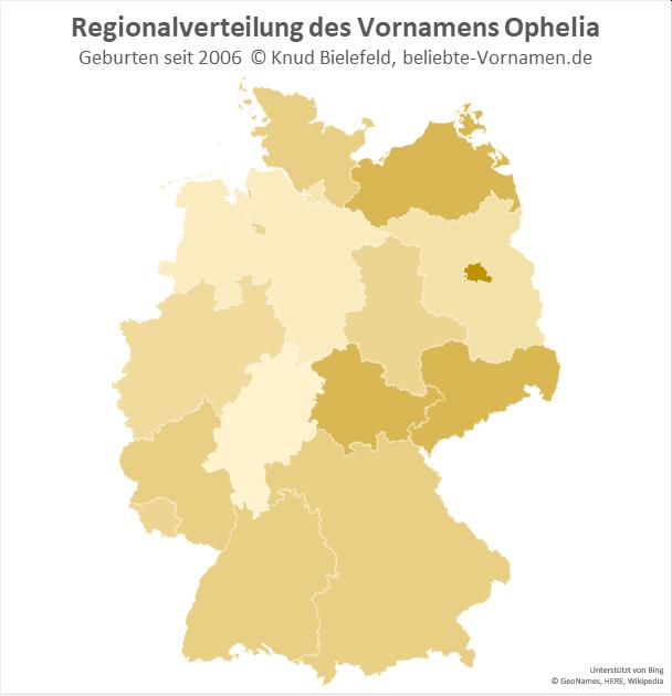 In Berlin ist der Name Ophelia besonders beliebt.