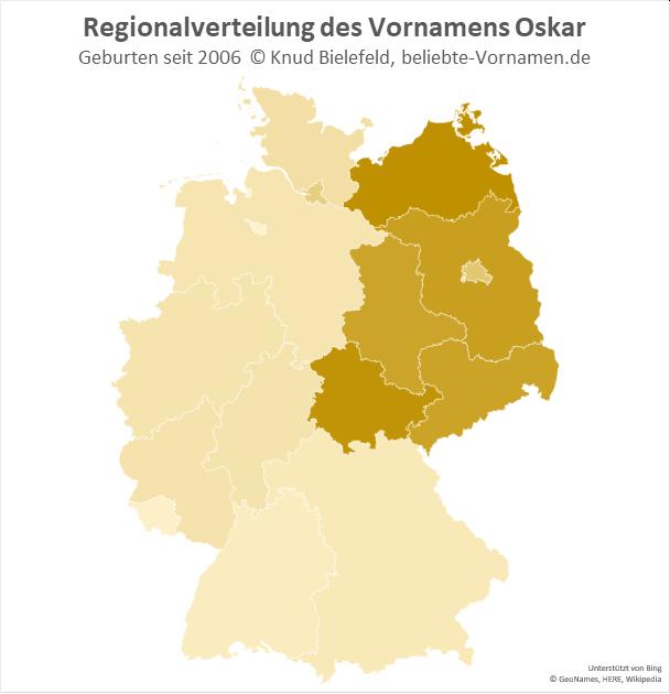 In Ostdeutschland ist der Name Oskar besonders beliebt.