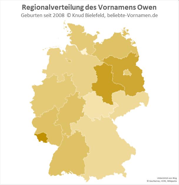 Im Saarland ist der Name Owen am beliebtesten.