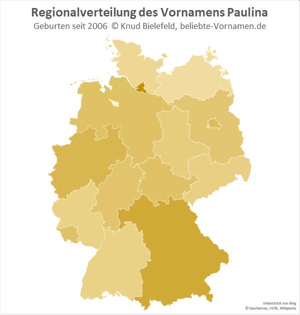 In Hamburg ist der Name Paulina am beliebtesten.