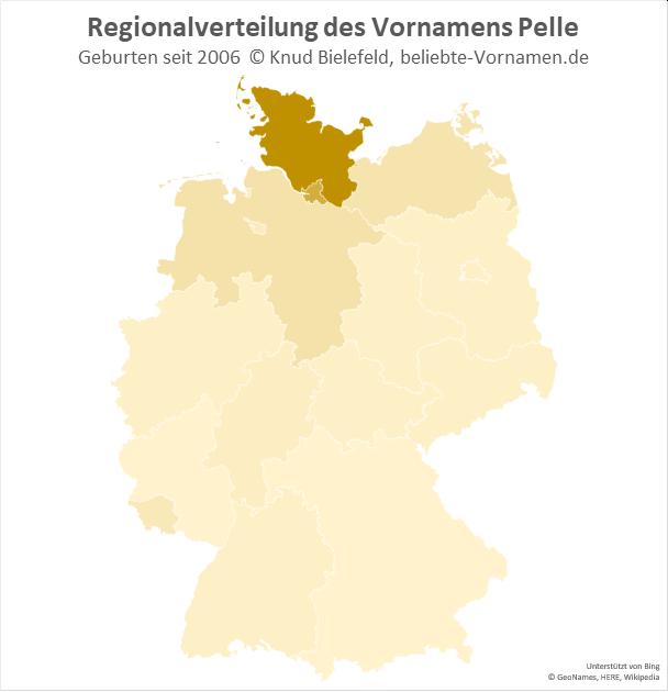 Der Name Pelle ist in Schleswig-Holstein besonders beliebt.