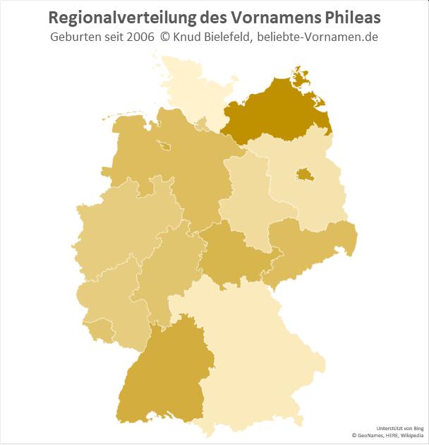 In Mecklenburg-Vorpommern ist der Name Phileas besonders beliebt.