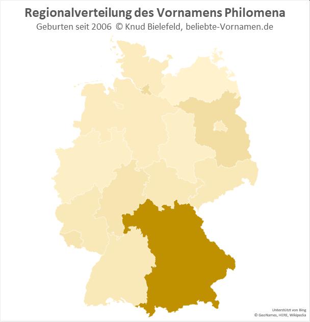 Der Name Philomena ist besonders in Bayern populär.