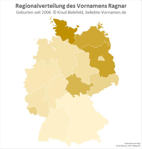 Am beliebtesten ist der Name Ragnar in Schleswig-Holstein.
